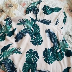 Old Navy Pink Palm Leaf Dress